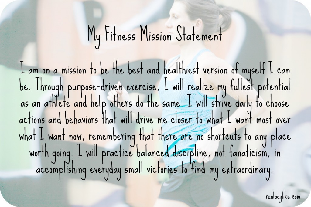 my fitness mission statement