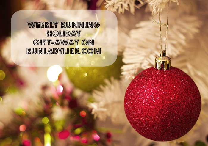 Weekly Running Holiday Gift-Away Every Tuesday in December on runladylke.com