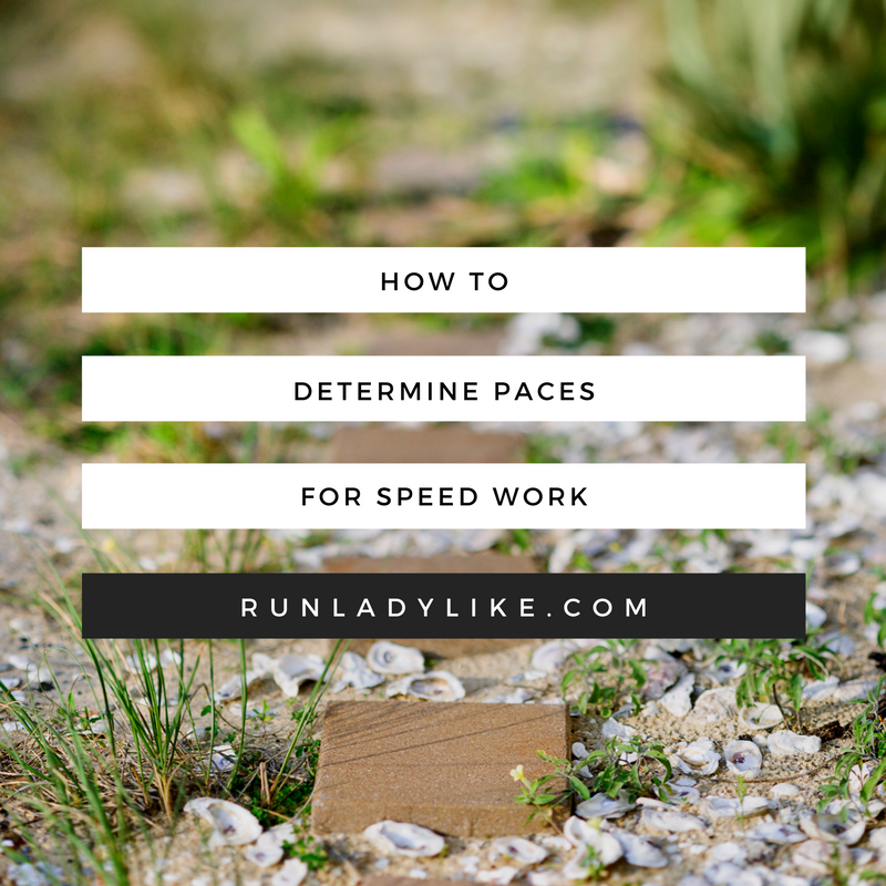 How to determine paces for speed work on runladylike.com