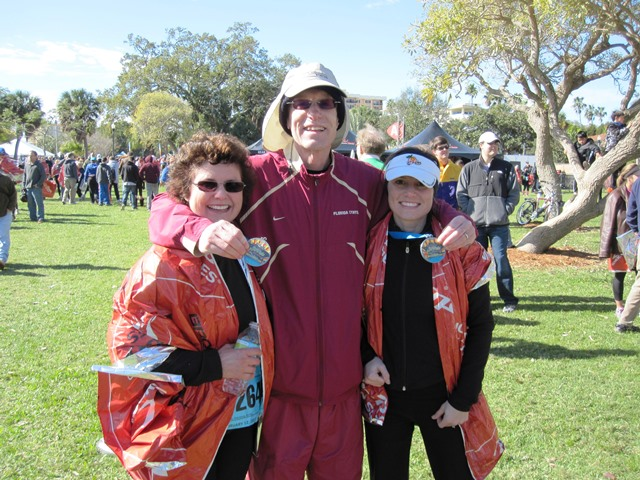 15 Mom, dad and Jes at the finish