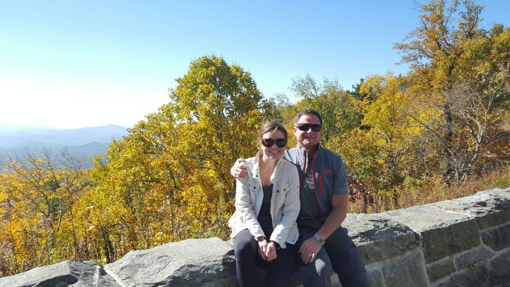 Hiking along the Blue Ridge Parkway