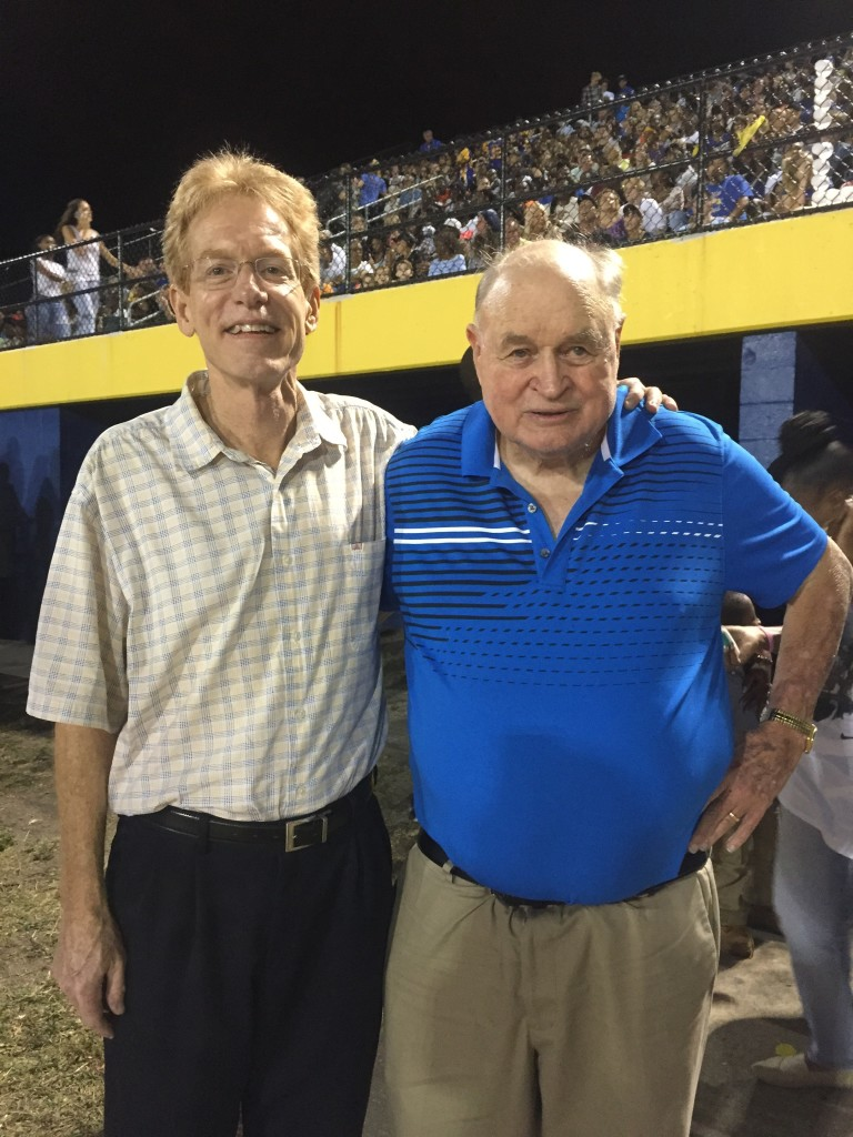Wes Koenig and Coach Brent Haley: Largo High School Hall of Fame