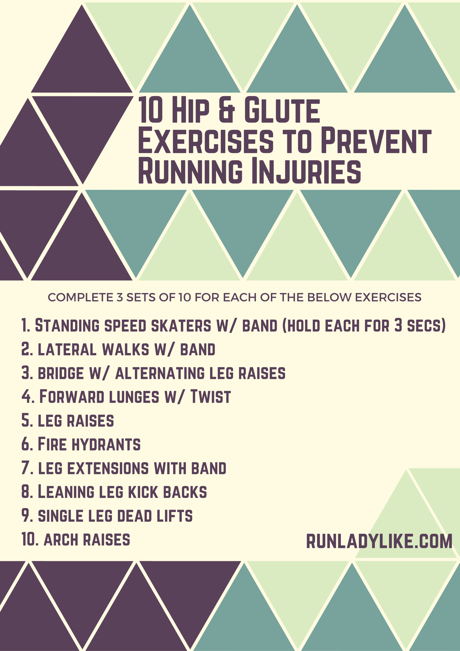 10 Hip & Glute Exercises to Prevent Running Injuries