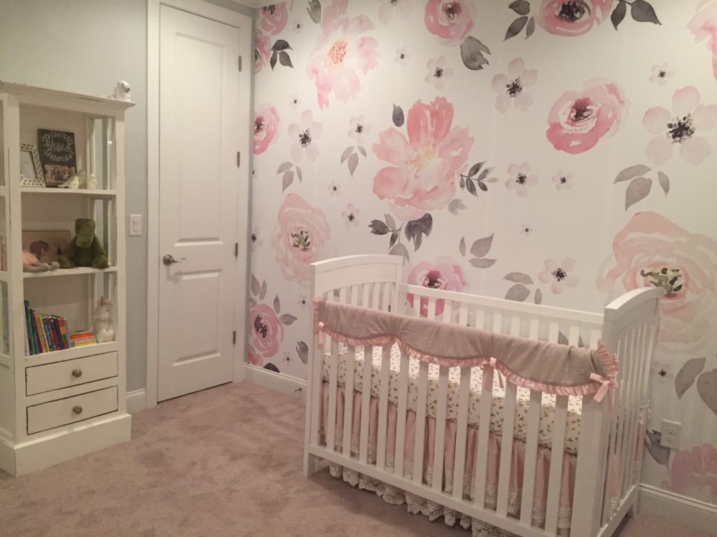 Pink And Grey Baby Room Design