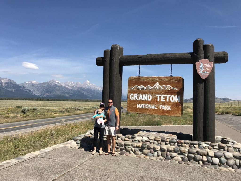 Baby Runladylike Getting Her First Official Stamp In National Parks Pport Grand Teton Park